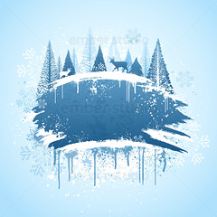 Winter forrest grunge design (Ember Studio) Tags: snowflake christmas blue winter wallpaper white snow abstract cold tree texture ice floral modern illustration digital season reindeer design artistic background grunge banner creative christmastree spray retro deer evergreen frame icicle backdrop swirl spraypaint copyspace ornate buck curve flakes vector splatter template brushed brushstroke designelement digitallygeneratedimage scrollshape