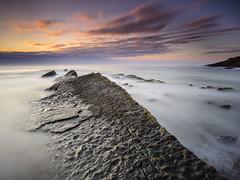 Howick Scar (Alistair Bennett) Tags: longexposure seascape sunrise coast rocks northumberland howick craster nd30 howickscar gnd09se gnd075he nikkorafs1635mm4gedvr