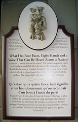Info. plaque about Peace Tower (Will S.) Tags: ontario canada bells plaque ottawa parliament mypics parliamenthill clocks senate carillon westblock peacetower parliamentbuildings houseofcommons centreblock