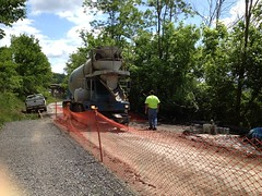051112 Rail Trail Progress (3) (CityofMorgantown) Tags: west wall work virginia construction crane rail trail wv morgantown drill retaining pave caperton