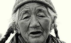 Wrinkled Wisdom (radical_vamsi) Tags: travel leh protraiture