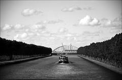 Amsterdam-Rijn canal (Colin+) Tags: bw canal ship nederland waterway noordholland binnenvaart