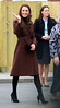 Catherine, Duchess of Cambridge, aka Kate Middleton, visits The Alder Hey hospital to spend time with some of the seriously ill children and their families on Valentine's Day Liverpool, England