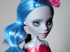 custom repaint ghoulia yelps monser high doll (happy dolls) Tags: hello pink white cute monster high doll forsale sweet adorable knit kitty sanrio bow kawaii etsy custom happydolls fa fs romper repaint foradoption yelps ghoulia hellohapy