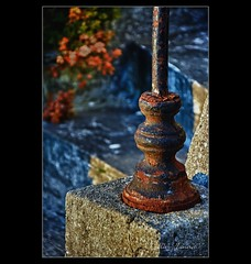 An old railing of the staircase | La vieille rampe d'escalier - #DH93 Post-traitement | Post-processing (Didier Hannot Photography) Tags: stilllife rusty staircase escalier naturemorte rouille rampedescalier countrysidememories railingofstaircase ilobsterit