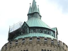 roof top repair (Frizztext) Tags: architecture watertower muenster wasserturm frizztext