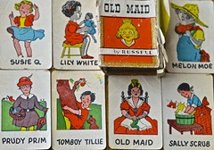 """""""Old Maid"""", 1935, by Russell, card game, cards, HMM, Old Maid (David McSpadden) Tags: oldmaid 1935 byrussell cardgame cards hmm dalycity ca usa"""