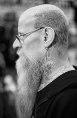 (auspices) Tags: 35mm black white birmingham ink iron tattoo show portrait pentax me super