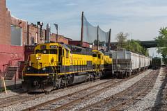 Working the MCs (sullivan1985) Tags: nj newjersey bogota mcyard emd sd60 sd40t2 nysw3014 nysw3806 nysw3800 nysw3808 newyorkcity empirestatebuilding skyline manhattanskyline freight freighttrain railroad railway nysw susquehanna susieq southernpacific sp tunnelmotor freightyard snoot