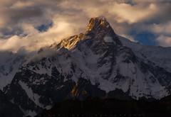 Ultar Sar 7388m (Minhaj Qazi) Tags: hunza pakistan north sunset ultarsar ultar hoper valley clouds mountains minhajqazi