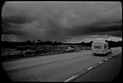 Environs de Gteborg - Sude (aRGeNTiC yeaRS) Tags: didierhubert didierhubertphotographe photographie gteborg sude europe ciel sky nuages clouds route road trafic orage thunderstorm caravan trailer holidays vacances