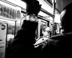 SUBWAY SCENE (nusevoicephotog) Tags: streetphotogrpahy blackandwhiteisworththefight blackandwhite people peopleofny subwayscene nyc subway neoprimemag streetphotomag lensulture everybodystreet nyip