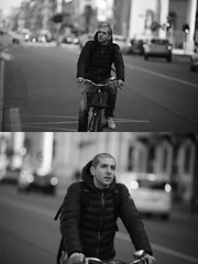 [La Mia Citt][Pedala] (Urca) Tags: milano italia 2016 bicicletta pedalare ciclista ritrattostradale portrait dittico bike bicycle biancoenero blackandwhite bn bw 872155