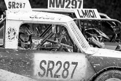 North Wales Autograss (MPH94) Tags: north wales autograss nw car cars auto motor sport motorsport race racing motorracing dirt dirty dust dusty canon 500d 70300 offroad off road black white monochrome