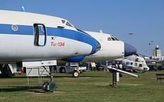 MALEV TU-134 and TU-154 in Aeropark Budapest (KristofCs) Tags: aeroparkbudapest malevtu134 malevtu154 halcg halbe ferihegy airport museum airplane tower controltower grass august flughafen ty154 ty134 tu154 tu134 mi2