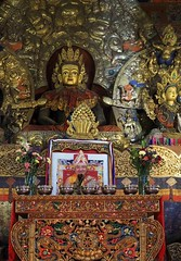 Statue at Sakya Monastery (joeng) Tags: china tibet landscape places temple monastery buddha sakyamonastery sakya