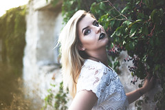 Vines (claudiakaay) Tags: vines vineyard model eyes make up beaut beauty natural nature portrait lipstick black fashion cute modern art