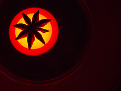A star is born (marcy0414) Tags: star macro staranise macromonday macromondays astarisborn flashlight circle red yellow black spice stars