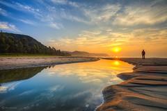 Early Morning Sun (kijimuna.) Tags: sunrise sea beach morning sun okinawa japan canon eos6d tranquil reflection symmetry calm clouds    nago        landscape seascape  northernokinawa