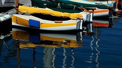Reflection boats (patrick_milan) Tags: ship boat bateau mer sea eau water blue bleu reflection reflet voile sailing bretagne brittany aberwrach aber