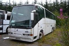 N846 DKU (ex XSU 977), a Scania K113TRB/Irizar of McCall's Coaches, Lockerbie, seen on 18 August 2016. (C15 669) Tags: n846 dku mccalls lockerbie