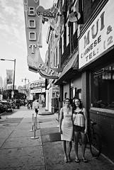 DR3-E097 (David Swift Photography Thanks for 16 million view) Tags: davidswiftphotography philadelphia southphilly portraits streetportraits cityscape signs women 35mm film streetphotography yashicat4 ilfordxp2