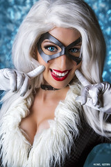 Say Cheese... (Ring of Fire Hot Sauce 1) Tags: cosplay blackcat elizabethrage longbeachcomiccon lbcc portrait glamour