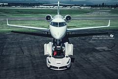 LaFerrari (Marcel Lech Photography) Tags: white ferrari laferrari mclaren p1 porsche 918 tro private jet airport plane marcel lech photography sr