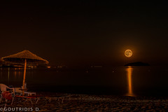 Dreamy Night!!! (Jimmy Goutridis) Tags: dream dreamy night moon sea beach water sand summer greece greek summertime macedoniagreece macedonian makedonia timeless