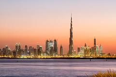 The Terrace, Dubai Creek Harbour - United Arab Emirates (Dutchflavour) Tags: dubai sunset dubaicreekharbour theterrace skyline sky cityscape citylandscape citycentre citylights uae unitedarabemirates tripod