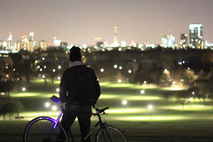 Primrose Hill - London (Michael McMillen) Tags: primrose hill camden londomn london uk england lookout landscape photography night nightime light lights bokeh cycle single speed fixed gear dawes winter cold canon 60d