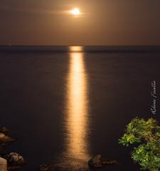 Quando la luna sorge ad Acicastello... (Roberto Fiscella) Tags: robertofiscella riflessi mare luna acitrezza acicastello sicilia sicily stagioni nikon natura notte