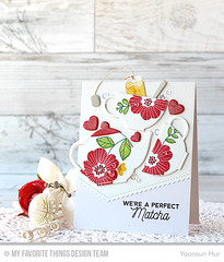 MFT Tea Party (RejoicingCrafts) Tags: mft myfavoritethings mftstamps papercrafts cardmaking stamping handmade cards teacups teapot teaparty flower floral