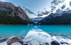 Lake Louise at dusk (FlintWeiss) Tags: lakelouise 60d nationalpark mountains 2016 canada canon efs1022mmf3545usm banff alberta fav