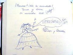 """""""Precioso! Nos ha encantado!"""" Javier y Lorena, Mlaga 14/noviembre/2015 (Museo del Romanticismo) Tags: museo del romanticismo siglo xix firmas libro de visitas pblico"""