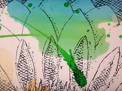 DSC0966858 (scott_waterman) Tags: scottwaterman painting paper ink watercolor gouache lotus lotusflower detail