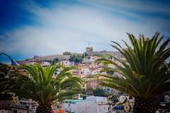 Kavala - greece (sofia_lazaridis) Tags: boat boats kavala port bunt colorful color house palm  sky holiday palms nature natur griechenland greece