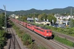 DB 151 028-8 + 151 002-3 Bad Honnef 07-09-2016 (Mik-rail) Tags: rhein db 151 bad honnef