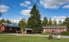 Old Sweden (H L Photography Sweden) Tags: sweden swedish rural countryside old outdoor building autumn fall red museum gammelstad hägnan lulea openairmuseum summer scandinavia europe norrland northofsweden swedishlapland