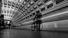 DC Metro   ( Explored ) (m_hamad) Tags: naturebeauty greatnature explore nationalgeographic park dazzlingshot beauty canon usa 7dmkii dc blinkagain ultimateshot supershot dcmetro metro washington washingtondc washdc blackandwhite blacknwhite black ghost motion blur longexposure longshutter foggybottommetro foggybottom foggy gwu gwustation station leadinglines lines