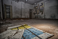 The Math Class (Christophe Pfeilstcker) Tags: europe lithuania saukotas school building architecture decay old ancient broken abandoned xris74 pixpassion fuji xt1 samyang wide flash numbers
