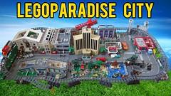 LEGOParadise City (LEGOParadise) Tags: lego city harbor park sports complex museum shopping mall car casino hotel gas station garage castle train construction yard