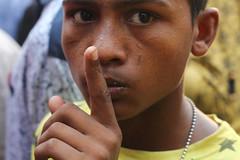 shh (Shadman241091) Tags: shh silence boy fighting street bolikhela tradition chittagong bangladesh finger face