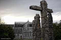 The cross (Jerome Pouysegu) Tags: ireland irish church stone cross pierre 5d eglise croix irlande