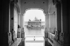 (skidu) Tags: bw india white black canon temple golden 1855mm punjab amritsar 550d