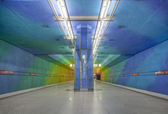 The Rainbow tunnel (odin's_raven) Tags: train germany munich deutschland rainbow nikon tube rail tunnel german munchen raven hdr muenchen candidplatz odins d700 munichubahn odinsraven