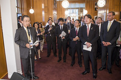 Osamu Yoshida, Burkhard Jung and other delegates at the Presidency Reception hosted by the Japanese Minister in Leipzig