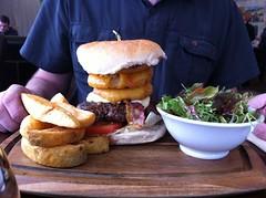 Man vs food (Chris Robertshaw) Tags: shop cheese yummy big farm burger chips rings fries onion bigboy huddersfield hinchcliffes wwwhinchliffescom