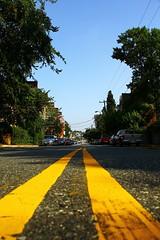 Asphalt Horizon (Historic Occoquan 2) - #125 (Patrick DB) Tags: road street yellow river virginia horizon asphalt occoquan canon60d