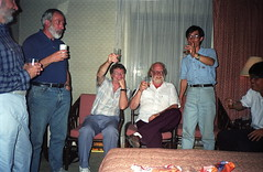 16th  IGES (1993)  Last group picture, Xi'an, China: the guys (Yvon from Ottawa) Tags: china men photo group beijing guys 1993 16th drinkingbeer iges internationalgeochemicalexplorationsymposium
